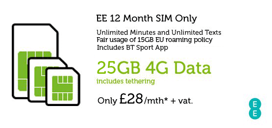Business SIM Only Deal EE £28