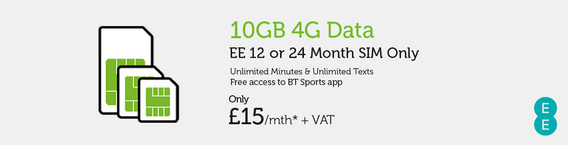 SIM Only EE £15