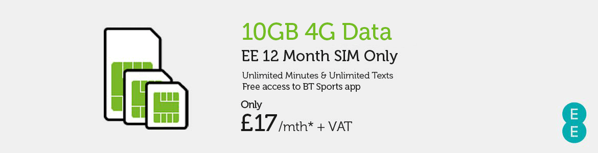 SIM Only EE £17